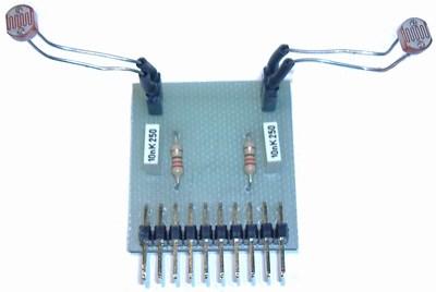 Doppio sensore di luce per schede Parallax